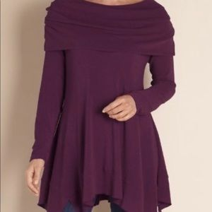 Soft Surroundings Purple B'Call Cowl Neck Tunic M